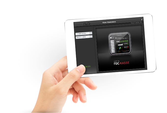roc.Center-Bildschirmansicht. Die Verwaltungsapp arbeitet optimal mit unserer Einlass-App roc.Ident zusammen