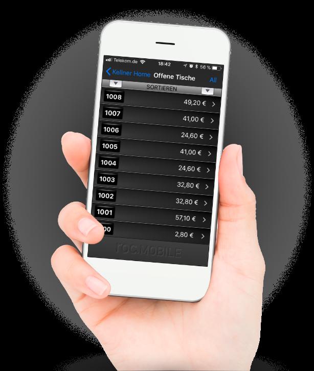 roc.mobile: die Kellner-App zum Funkbonieren fürs iPhone und iPad